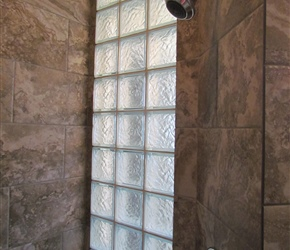Glass Block IceScape; Homestead Gray tile