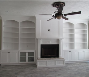 Site built custom cabinets by TCC.